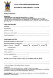 infant baptism form
